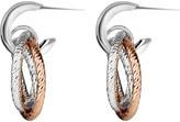Links of London Aurora sterling silver and 18ct rose gold vermeil hoop earrings