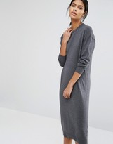 Warehouse Crew Neck Midi Dress