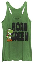 Fifth Sun Women's Tank Tops ENVY - Super Mario Envy Yoshi 'Born Green' Racerback Tank - Women & Juniors
