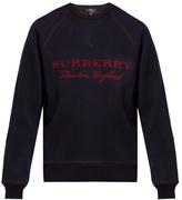 Burberry Logo-jacquard Crew-neck Sweater