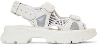 Gucci White Aguru Sandals