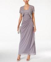 MSK Embellished Shrug & Sleeveless Gown