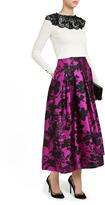Oscar de la Renta Floral Midi Skirt
