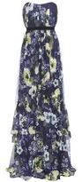 Erdem Simona floral-print silk gown