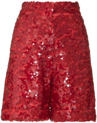 ANOUKI Sequin Embroidered Shorts