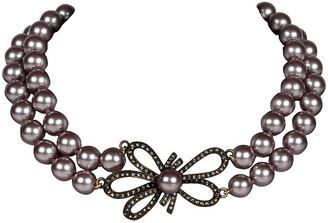 One Kings Lane Vintage Heidi Daus 2 Strand Faux-Pearl Necklace - Galleria d'Epoca