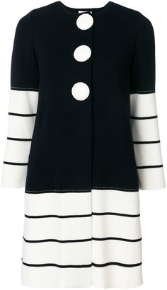 Charlott Striped Knit Coat