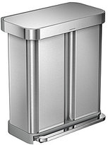 Simplehuman 58-Liter Dual Recycler Compartment Step Can