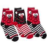 TruffleShuffle Womens 3pk Coke Stripey Socks Gift Set