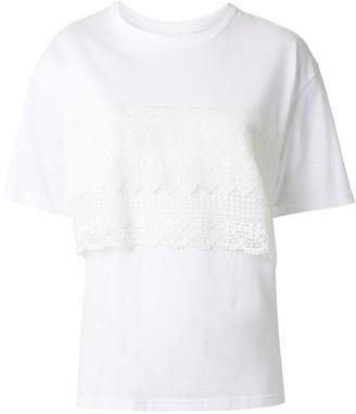 Y's asymmetric short sleeve T-shirt
