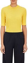 Maison Margiela Women's Ribbed Wool Fitted Sweater-YELLOW