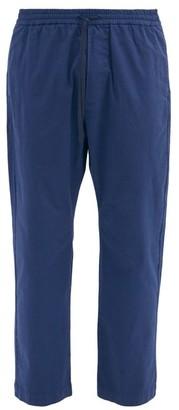 Barena Bativoga Drawstring-waist Cotton-blend Trousers - Navy