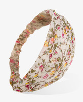 Forever 21 Floral Chiffon Headwrap