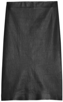 Theory Skinny Leather Pencil Skirt
