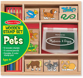 Melissa & Doug Pets Wooden Stamp Set