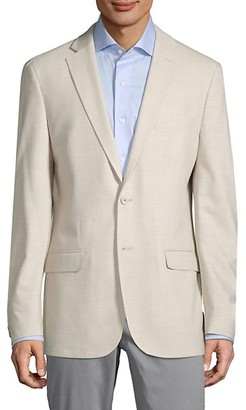Calvin Klein Slim-Fit Textured Solid Sportcoat