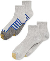 Gold Toe Men's Socks, Athletic Cushion Quarter 4 Pack
