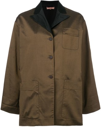 Romeo Gigli Pre-Owned Peaked Lapels Boxy Jacket