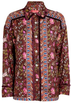 F.R.S For Restless Sleepers Printed Silk Shirt