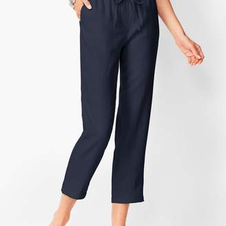 Talbots Washed Linen Pull-On Crops