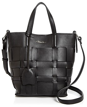 3.1 Phillip Lim Odita Mini Modern Small Lattice Leather Bucket Bag