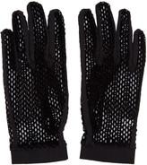MM6 MAISON MARGIELA Black Velvet Mesh Gloves