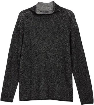 John Varvatos Marled Mock Neck Pullover Sweater