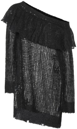 Valentino embroidered mohair-blend sweater