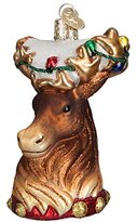 Old World Christmas Reindeer Glass Blown Ornament