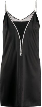 John Richmond Rhinestone-Embellished Slip Dress
