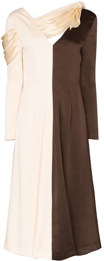REJINA PYO Colourblocked Split Midi Dress
