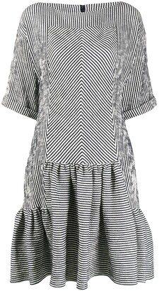 Talbot Runhof Striped Midi Dress