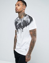 Religion T-shirt With Dripping Graphic Print