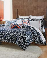 Trina Turk Indigo Ikat Twin Duvet Set Bedding
