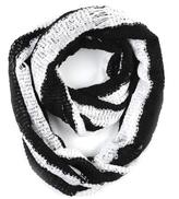 Paula Bianco Stripe Drop Knit Infinity Scarf