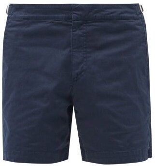 Orlebar Brown Bulldog Cotton-twill Shorts - Mens - Navy