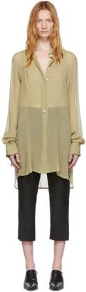 Ann Demeulemeester SSENSE Exclusive Beige Silk Cupid Shirt
