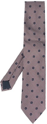 Ermenegildo Zegna Jacquard Pattern Floral Detail Tie
