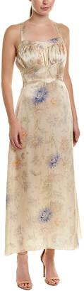 Anna Sui Dancing Dandelions Silk Maxi Dress