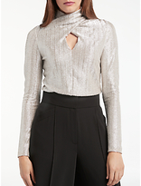 Somerset by Alice Temperley Wrap Neck Blouse, Silver