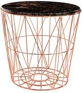 Abbyson Porter Marble and Stainless Steel End Table