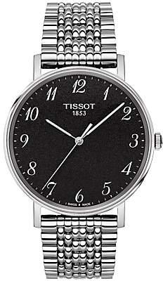 Tissot T1094101107200 Men's Everytime Bracelet Strap Watch, Silver/Black