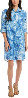 Karen Kane Tie-Dye Linen Shirtdress