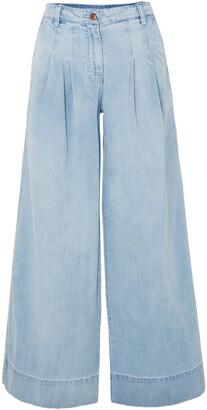 Ulla Johnson Pleated High-rise Wide-leg Jeans