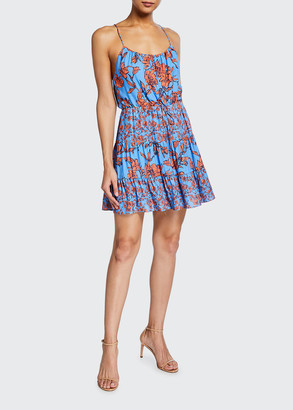 Alice + Olivia Cheyla Tiered Drawstring Short Dress