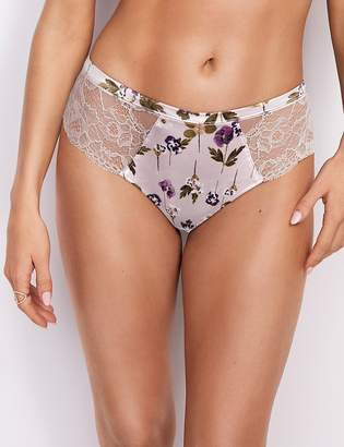 Rosie For AutographMarks and Spencer Silk & Lace Floral Brazilian Knickers