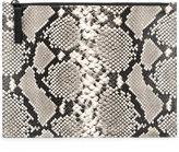 Maison Margiela python zip clutch bag - men - Leather - One Size