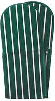 Rushbrookes Classic Butchers Stripe Double Oven Glove in Racing Green
