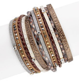 Saachi Bronze Selena Leather Wrap Bracelet