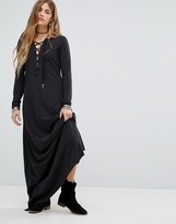 Free People Pschomagic Lace Up Maxi Dress